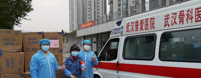 On Feb 26, a shipment of adult diapers donated by UNFPA arrived in Wuhan and was distributed to local hospitals.