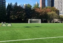 Outdoor group sports have been banned in New York to prevent the spread of the COVID-19 virus.