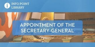 UNRIC Library backgrounder: Appointment of the SG