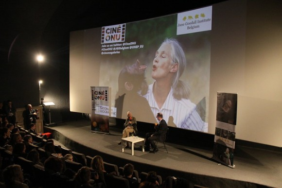 UNRIC Projects: Jane Goodall at Ciné-ONU screening of JANE, at Cinéma Galeries