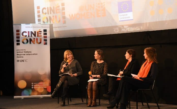 Panelists at Cine-ONU, UN Cinema, screening of 'The Daughter Tree'