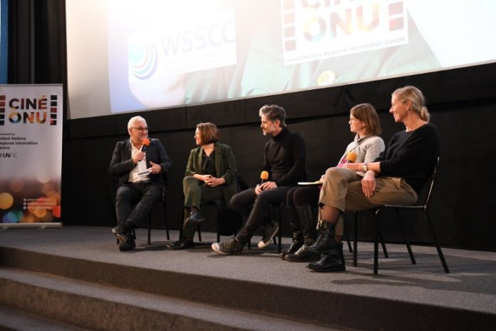 Panelists at Ciné-ONU following screening of 'Mr Toilet: The World's #2 Man'
