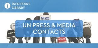 UNRIC Library backgrounder: UN Press and media contacts