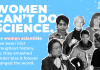 Women in Science - poster of 'Women can't do science'