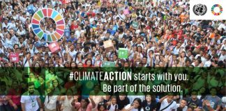 Citizens demonstrating for climate actionClimate Action