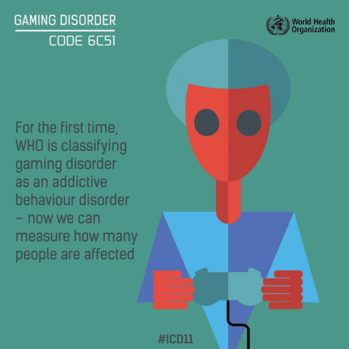 Gaming Disorder image by WHO