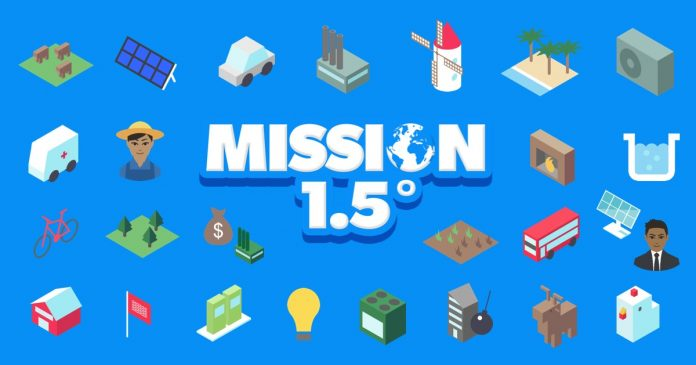 Mission 1.5 degress video game