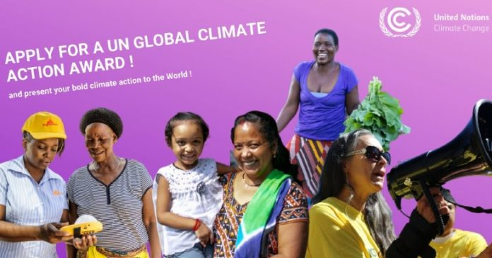 UN Climate Action Awards promotional banner
