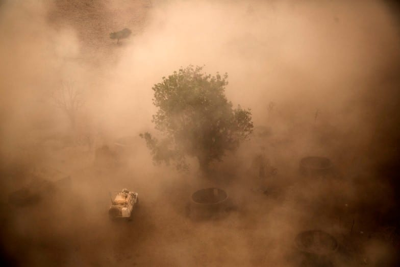 MINUSMA vehicle in sand storm - Marco Dormino