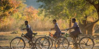 Kids on Buffalo bikes - WBR Cycling4SDGs