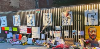 An impromptu memorial for George Floyd, New York City | © UN News Hazel Plunkett