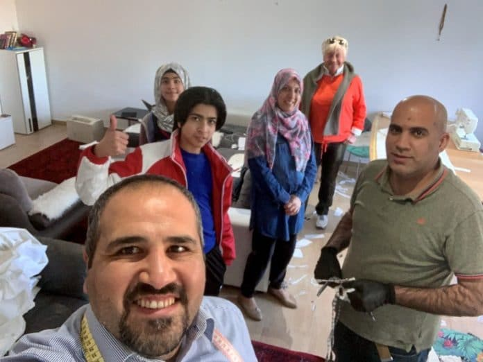 The Alhashimi family, Gaby Heger and family friend | Iraqi refugee family living in Luxembourg