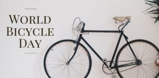 world bicycle day banner