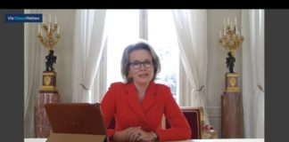 Queen Mathilde during #CopingWithCOVID webinar