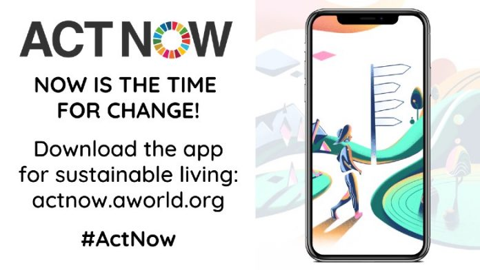 ActNow mobile app banner