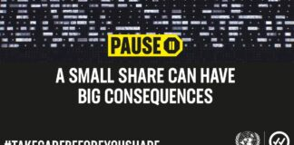Take care before you share | #PledgetoPause