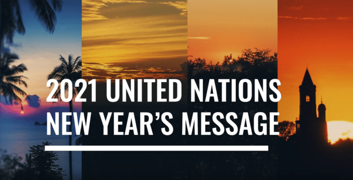 The United Nations New Year's Video Message 2021 screenshot