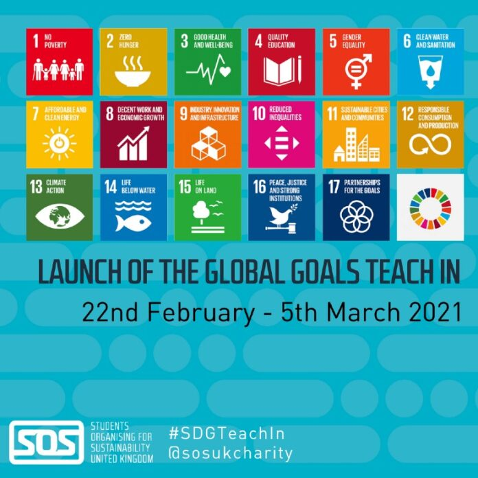 Global Goals Teach-In launch poster