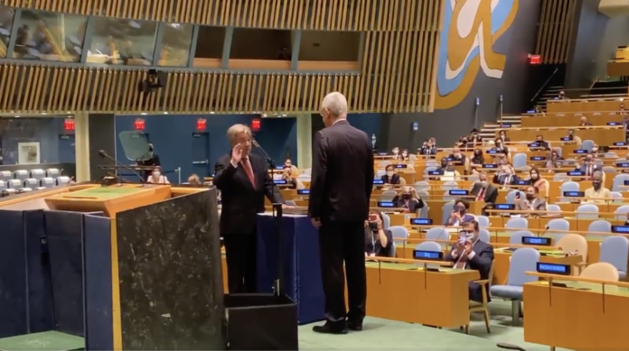 Secretary-General sworn in for a second term