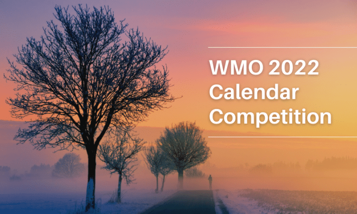 Winter sunset background   WMO calendar competition