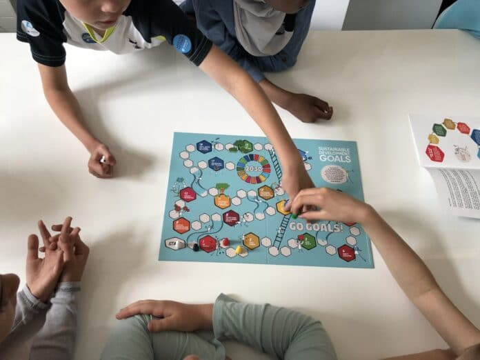 Children Playing the Go Goals Game