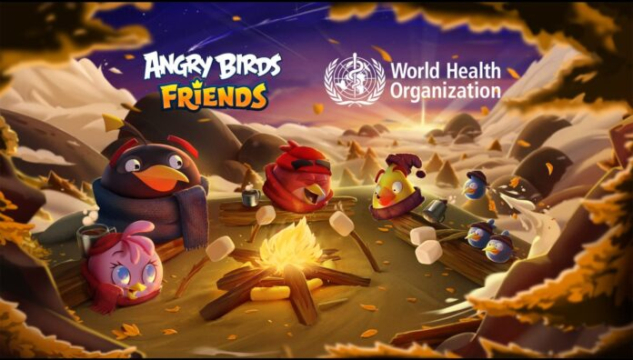 WHO and Angry Birds Mental Health Day poster