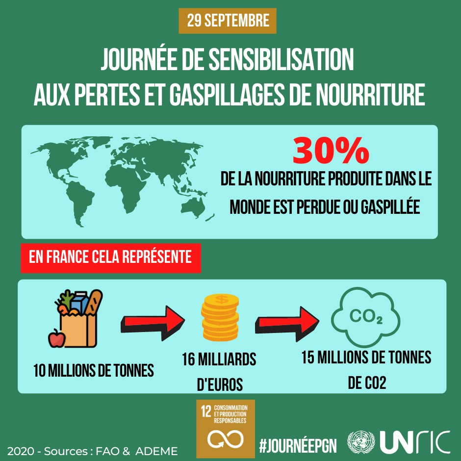 Infographie Gaspillage Alimentaire