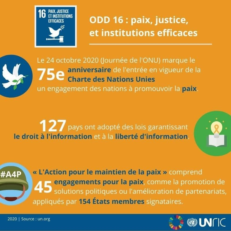 ODD 16: Paix, Justice et Institutions Efficaces