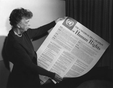 Eleanor Roosevelt - holding the UDHR