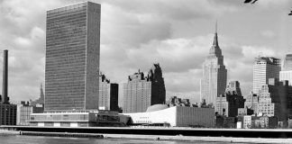 UN Photo The Headquarters of the United Nations and New York's mid-Manhattan skyline, 24 October 1955.